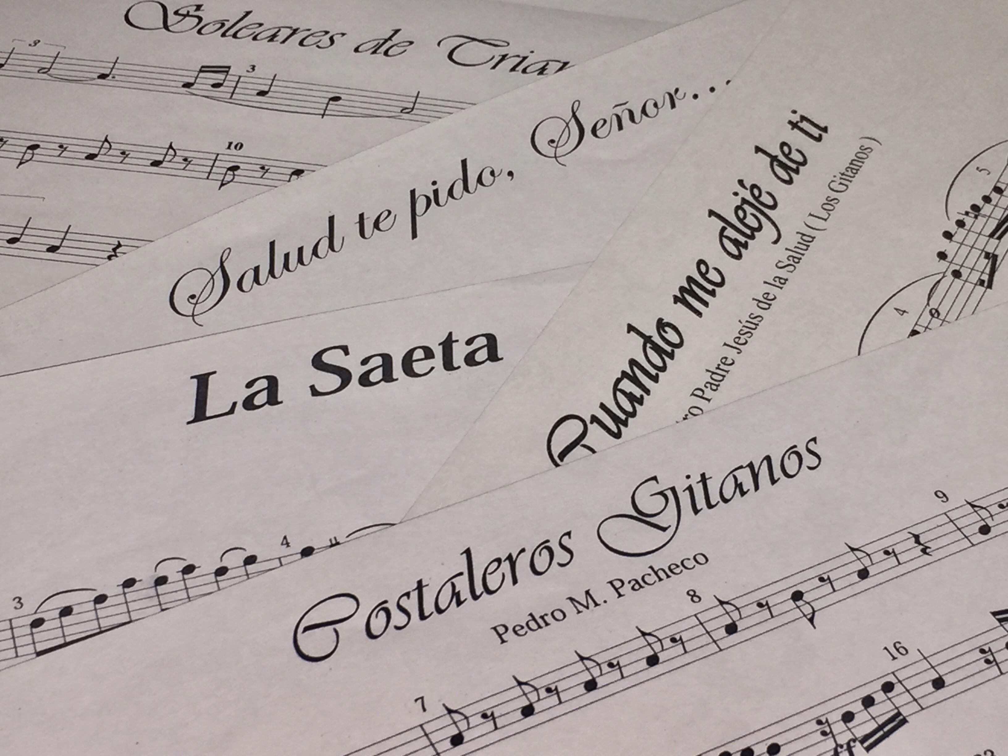 Nueva forma de petición para partituras y guiones musicales